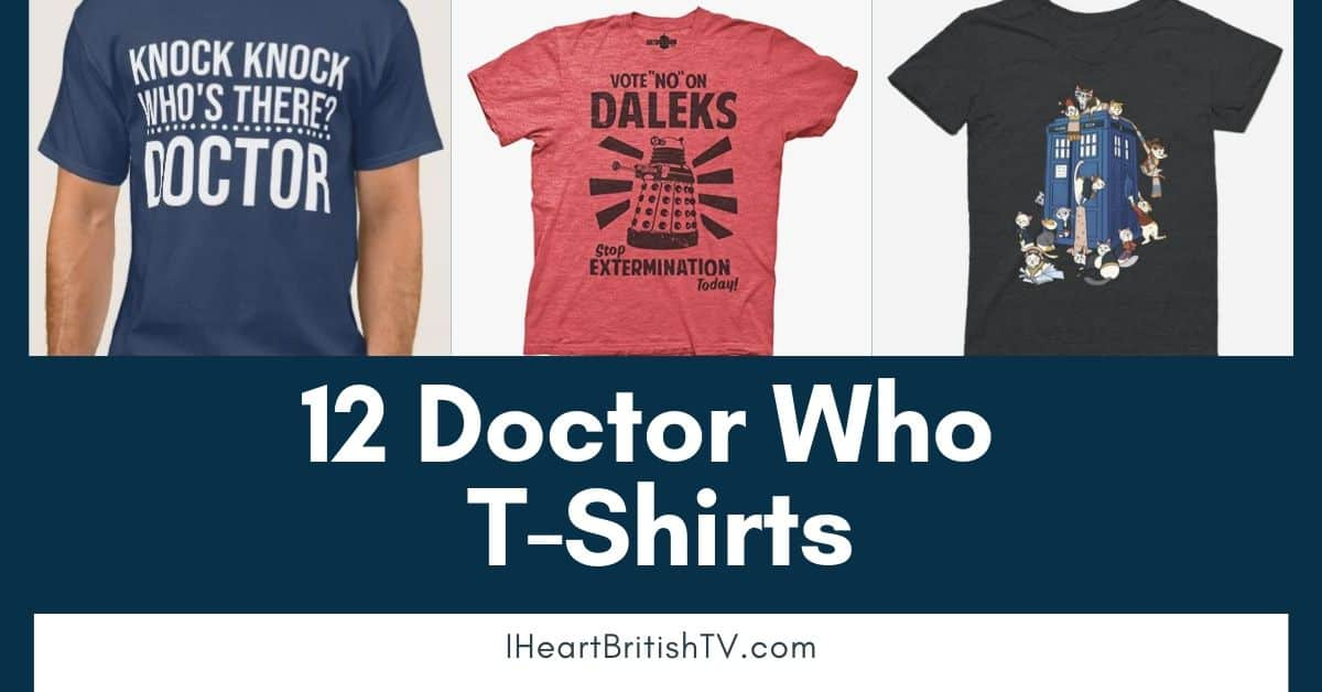 12 Fun & Funny Doctor Who T-Shirts for British TV Fans 1