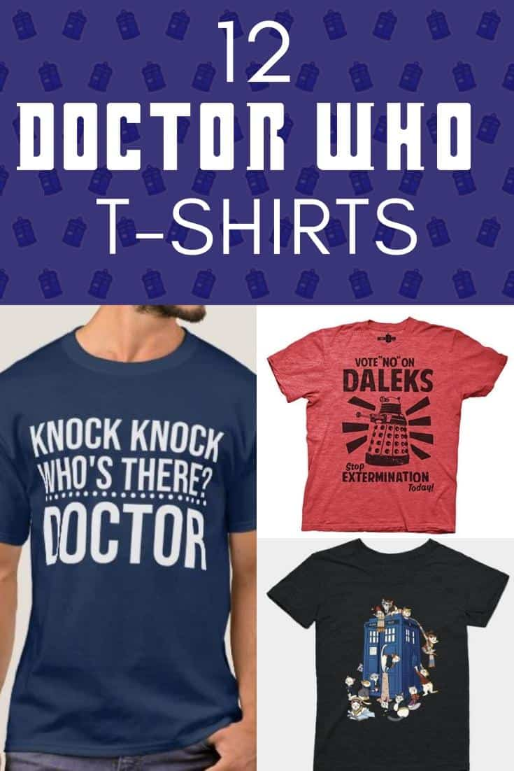 12 Fun & Funny Doctor Who T-Shirts for British TV Fans 14