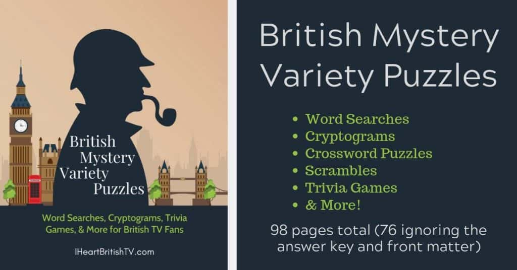 photo regarding Free Printable Mystery Games titled No cost British Secret-Themed Wide range Puzzles (A Printable