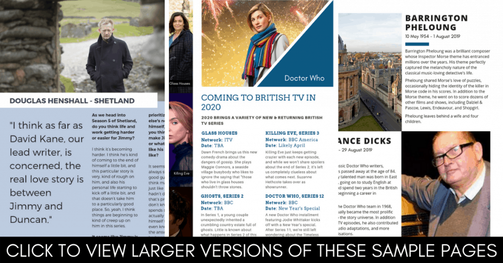 What is the 2019 British TV Year in Review Magazine? 5